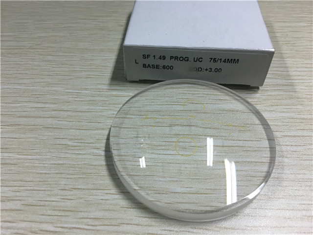 Progressive Varifocal Vision Semi Finished Lens Blanks Multifocal Uncoated 1.499 Index