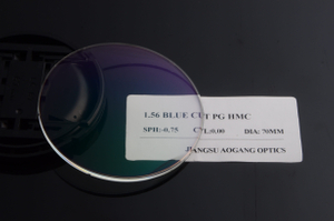 1.56 HMC UV420 Blue Block Photochromic Lens Optical Lenses