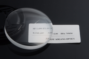 Semi finished SF CR-39 1.49 Flat Top-28 bifocal prescription reading optical lens blanks