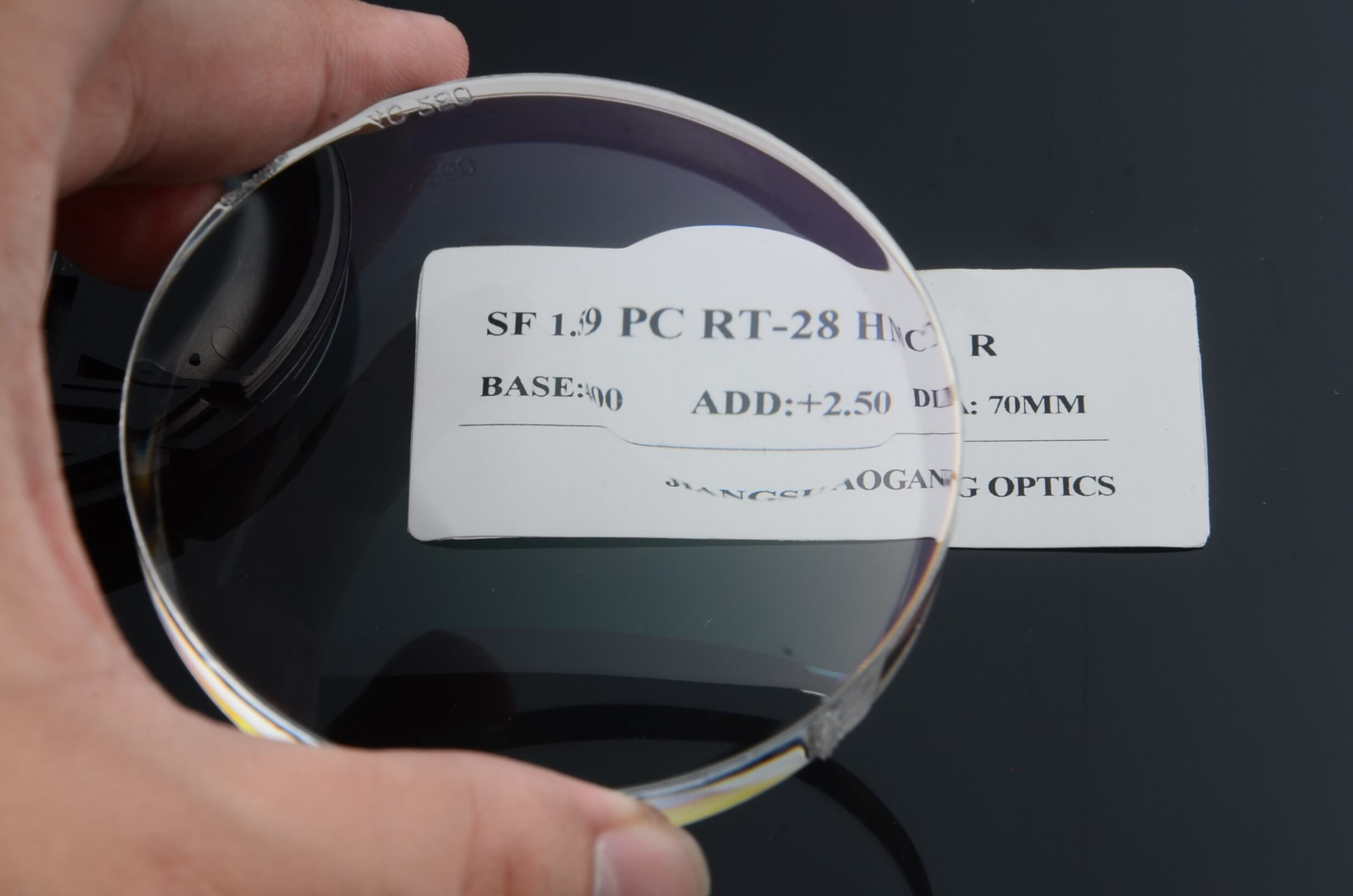 Semi Finished 1.59 PC polycarbonate round top bifocal reading eyeglass lenses anti impact