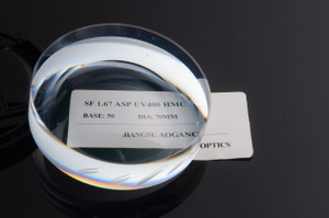 ASP Semi Finished Lens Blanks 1.67 High Index HMC Coating UV400 Protection