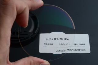 Prescription Transitions Photochromic Lenses Round Top AR Coating 1.56 Index
