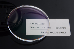 Semi finished prescription PC 1.59 polycarbonate HC HMC ophthalmic lens for optical lab