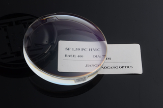 Semi Finished Optical Polycarbonate Lens Blanks 1.59 Index AR Coating