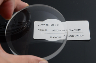 SF CR39 1.499 Uncoated Round Top Semi Finished Lens Blanks In Bifocal Lens Optical Lenses