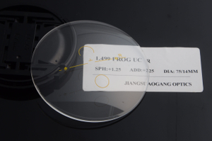 High quality CR39 1.49 progressive UC optical prescription lenses