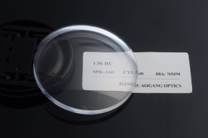 CR39 1.56 single vision UC/HC/HMC AR coating anti glare ophthalmic lens