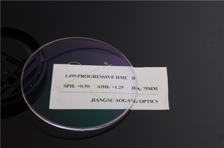1.499 Index Progressive Multifocal Lenses With Glare Protective Coating