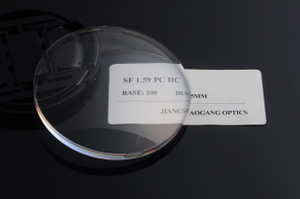 Hard Coated 1.59 Polycarbonate Lenses Blank , PC Polycarbonate Optical Lens Blanks